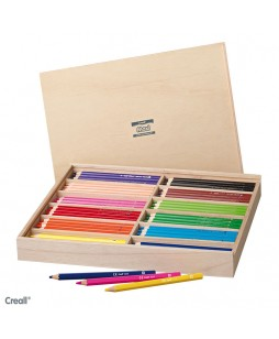 Creall Maxi 144 pieštukų medinė dėžė