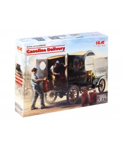 ICM modelis Gasoline Delivery, T 1912 Delivery Car with American Gasoline Loaders 1/24