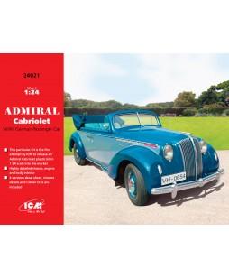 ICM modelis Admiral Cabriolet, WWII German Passenger Car 1/24