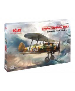ICM modelis Gloster Gladiator Mk.I, WWII British Fighter 1/32