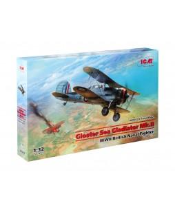ICM modelis Gloster Sea Gladiator Mk.II , WWII British Naval Fighter 1/32