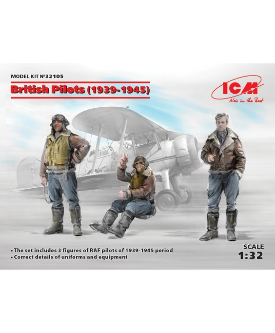 ICM British Pilots (1939-1945) (3 figures) 1/32