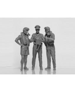 ICM British Pilots in Tropical Uniform (1939-1943) (3 figures) 1/32