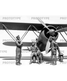 ICM Italian Pilots in Tropical Uniform (1939-1943) (100% new molds) 1/32