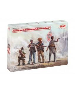 ICM American Civil War Confederate Infantry 1/35