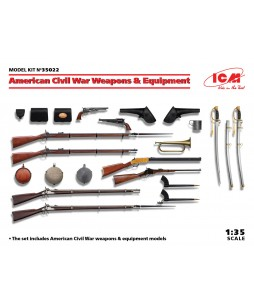 ICM modelis US Civil War Weapons & Equipment 1/35