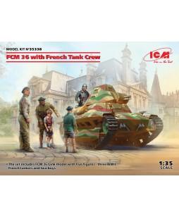 ICM modelis FCM 36 with French Tank Crew 1/35