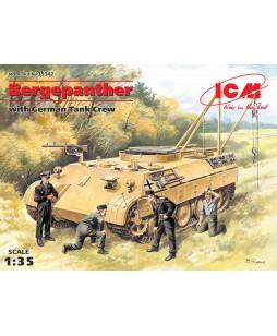 ICM modelis Bergepanther with German Tank Crew (4 figures) 1/35