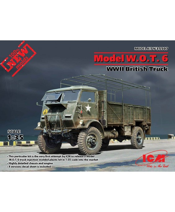 ICM modelis  W.O.T. 6, WWII British Truck 1/35