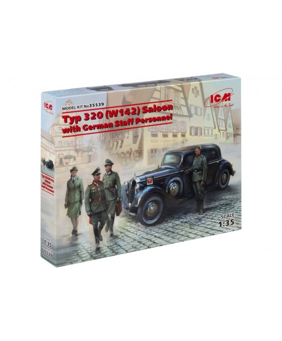 ICM modelis  320 (W142) Saloon with German Staff Personnel 1/35