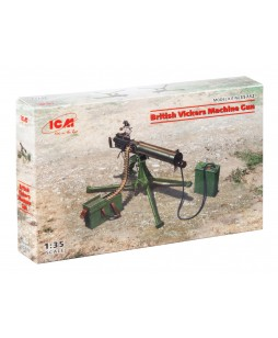 ICM modelis British Vickers Machine Gun 1/35