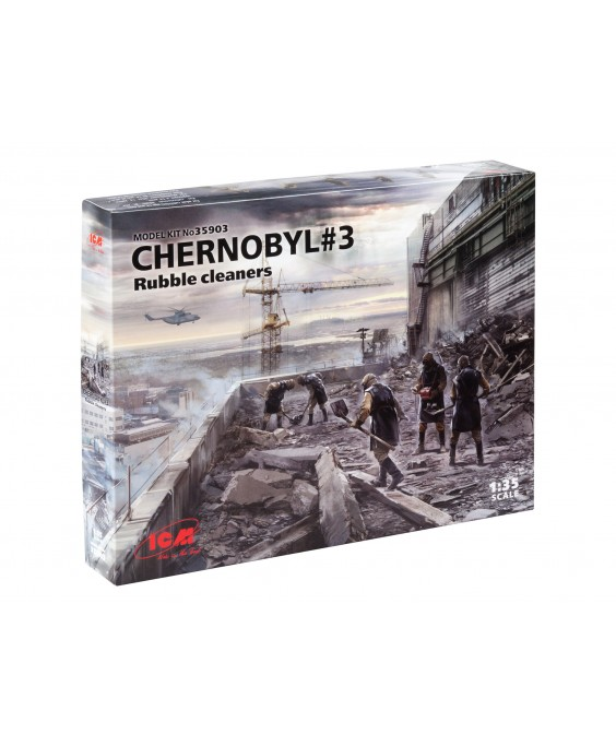 ICM Chernobyl 3. Rubble cleaners (5 figures) 1/35