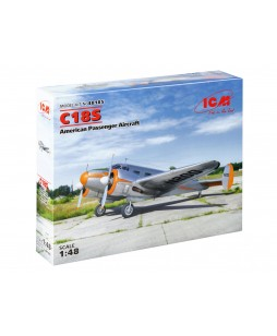 ICM modelis C18S, American Passenger Aircraft 1/48