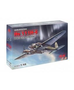 ICM modelis He 111H-6, WWII German Bomber 1/48