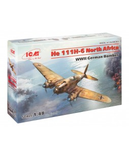 ICM modelis He 111H-6 North Africa, WWII German Bomber 1/48