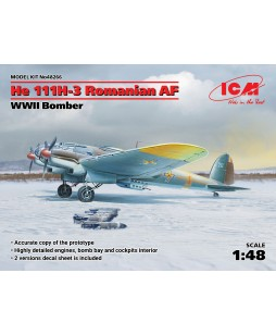ICM modelis He 111H-3 Romanian AF, WWII Bomber 1/48
