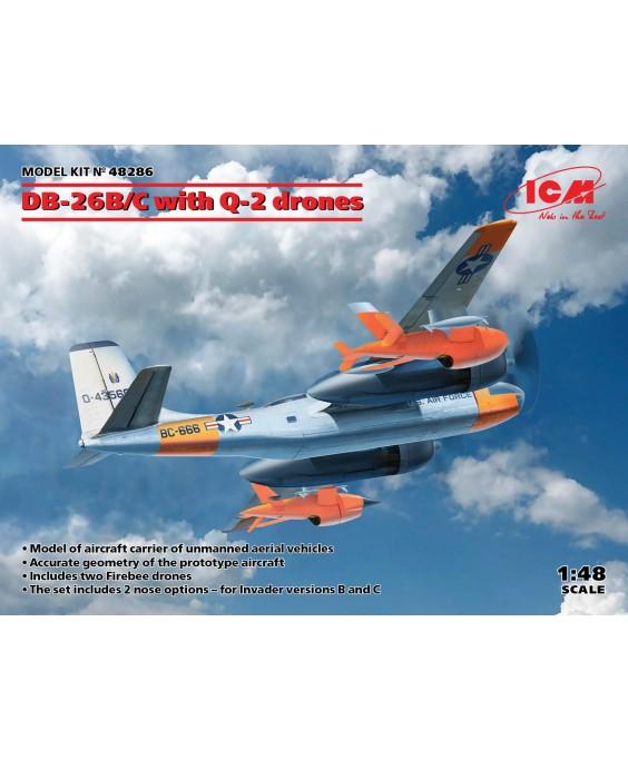 ICM modelis DB-26B/C with Q-2 drones 1/48