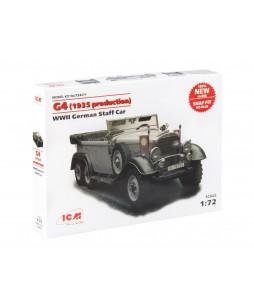 ICM modelis G4 (1935 production), WWII German Staff Car,  snap fit/no glue 1/72