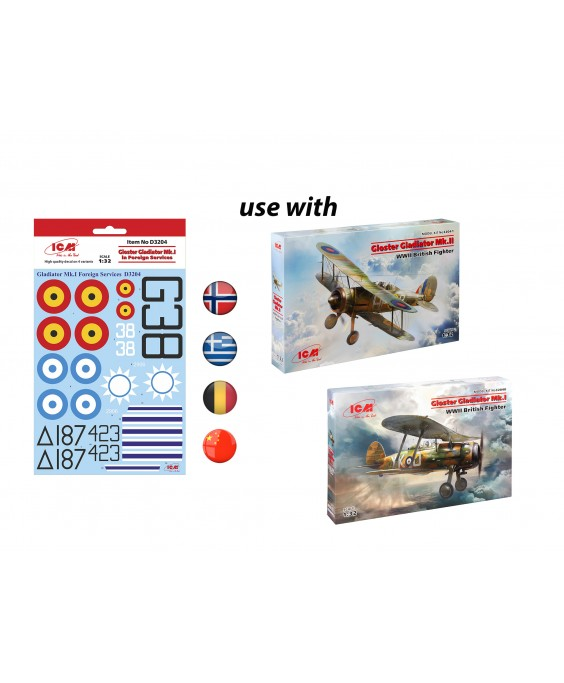 ICM Gloster Gladiator Mk.I/II in Foreign Services 1/32