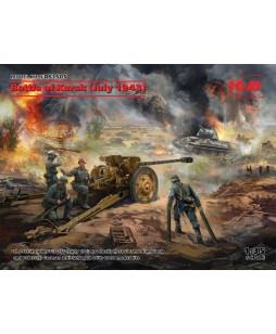 ICM modelis Battle of Kursk (July 1943) (T-34-76 (early 1943), Pak 36(r ) with Crew (4 figures) 1/35