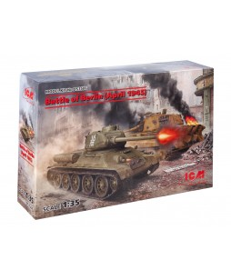 ICM modelis Battle of Berlin (April 1945) (T-34-85, King Tiger) 1/35