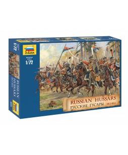 Zvezda istorinės miniatiūros  Rusų husarai 1812-1814m 1/72