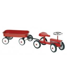 Goki pasirtukas traktoriukas su priekaba