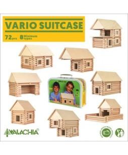 Walachia medinis konstruktorius  Vario lagaminėlis 72 vnt