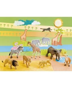 Egzotinių gyvūnų figūrėlės