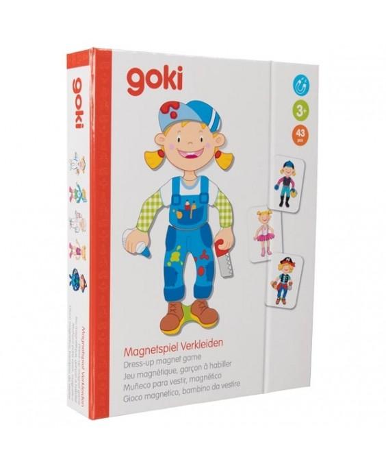 Goki magnetinis žaidimas Aprenk mergaitę