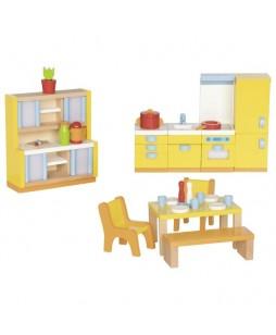Baldeliai lėlių namui Virtuvė