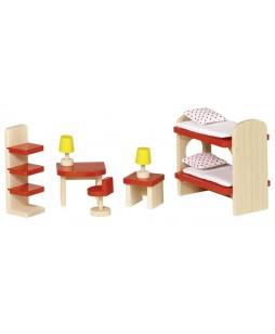 Baldeliai lėlių namui Vaikų kambarys