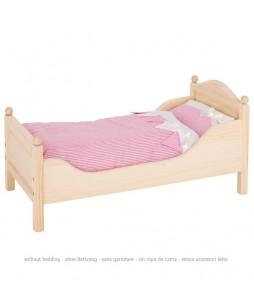 Goki medinė lovytė lėlėms