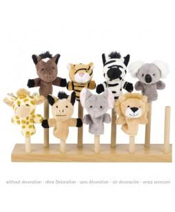 Goki lėlių ant piršto rinkinys Laukiniai gyvūnai