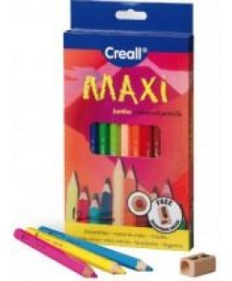 Creall Maxi pieštukai su drožtuku