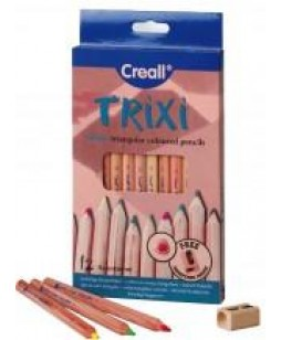 Creall Trixi pieštukai su drožtuku